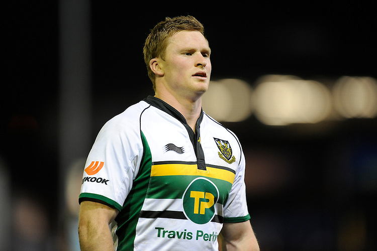Chris Ashton of Northampton Saints during the LV= Cup second round match between Ospreys and Northampton Saints at Riverside Hardware Brewery Field, Bridgend (Photo by Rob Munro)