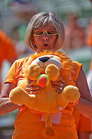 Austria, Kitzbühel, Juli 18, 2015, Tennis,  Davis Cup, second match between Andreas Haider-Maurer (AUT) and Robin Haase (NED), pictured : Dutch supporter<br /> Photo: Tennisimages/Henk Koster