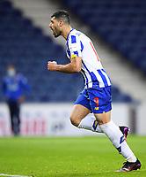 30th April 2021; Dragao Stadium, Porto, Portugal; Portuguese Championship 2020/2021, FC Porto versus Famalicao; Mehdi Taremi of FC Porto celebrates his penalty kick goal in the 61st minute for 2-1