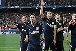 Atletico de Madrid's Koke Resurrecccion, Diego Godin, Gabi Fernandez, Lucas Hernandez and Saul Niguez celebrate the victory in the Champions League 2015/2016 Quarter-Finals. April 13,2016. (ALTERPHOTOS/Acero)