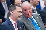 King Felipe VI of Spain talking with King Juan Carlos I attends to National Sport Awards 2016 at El Pardo Palace in Madrid , Spain. February 19, 2018. (ALTERPHOTOS/Borja B.Hojas)