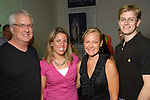 Wade Wilson, Megan Miller, Helen Norris and Charles Truluck at the Luck of the Draw benefit at Diverse Works Wednesday July  01, 2009. (Dave Rossman/ For the Chronicle)