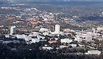 Downtown Tallahassee Florida (foreground) with Florida State University (background) March 2, 2004.  (Photo by Mark Wallheiser/TallahasseeStock.com)  (Mark Wallheiser/TallahasseeStock.com)