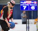 Jill MacSween, Toronto 2015 - Goalball.<br /> Canada's Women's Goalball team plays against USA in the semi finals // L'équipe féminine de goalball du Canada joue contre les États-Unis en demi-finale. 14/08/2015.