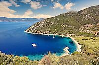 Polis beach in Ithaki island, Greece