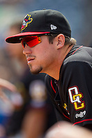 Miles Hamblin (15) of the Quad Cities River Bandits prior to the game against the West Michigan Whitecaps at Fifth Third Ballpark on May 5, 2013 in Comstock Park, Michigan.  The River Bandits defeated the Whitecaps 5-4.  (Brian Westerholt/Four Seam Images)