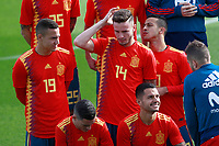 Spain national football players Rodrigo Moreno, Saul NIguez and Thiago Alcantara and technical staff pose with their new jerseys at the 'Ciudad del Futbol' ahead of their World Cup 2018 friendly football match against Costa Rica. November 8,2017.(ALTERPHOTOS/Acero) /NortePhoto.com