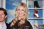 Designer Edgardo Osorio and super model Claudia Schiffer arrive at their Claudia Schiffer for Aquazzura launch event at Saks Fifth Avenue, at 611 Fifth Avenue, in New York City on October 17, 2017.