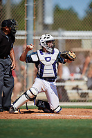 Bryce Boone during the WWBA World Championship at the Roger Dean Complex on October 18, 2018 in Jupiter, Florida.  Bryce Boone is a catcher from Ocala, Florida who attends TNXL Academy and is committed to Florida State.  (Mike Janes/Four Seam Images)