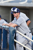 AZL Padres 2 manager Michael Collins watches the action on the field during a game against the AZL Brewers on September 2, 2017 at Maryvale Baseball Park in Phoenix, Arizona. AZL Brewers defeated the AZL Padres 2 2-0. (Zachary Lucy/Four Seam Images)