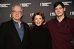 Tracy Letts, Annette Bening, Benjamin Walker attend the 'All My Sons' cast photo call at the American Airlines Theatre  on March 8, 2019 in New York City.
