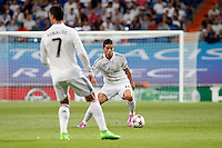 James and Cristiano Ronaldo of Real Madrid during the Champions League group B soccer match between Real Madrid and FC Basel 1893 at Santiago Bernabeu Stadium in Madrid, Spain. September 16, 2014. (ALTERPHOTOS/Caro Marin) /NortePhoto.com