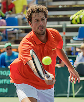 Moscow, Russia, 17 th July, 2016, Tennis,  Davis Cup Russia-Netherlands, Robin Haase (NED)<br /> Photo: Henk Koster/tennisimages.com