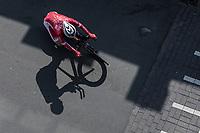 Cyril Lemoine (FRA/Cofidis) cornering.<br /> <br /> <br /> Baloise Belgium Tour 2018<br /> Stage 3: ITT Bornem - Bornem (10.6km)