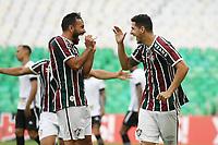 Rio de Janeiro (RJ), 17/04/2021 - Fluminense-Botafogo - Nino jogador do Fluminense comemora seu gol,durante partida contra o Botafogo,válida pela 10ª rodada da Taça Guanabara,realizada no Estádio Jornalista Mário Filho (Maracanã), na zona norte do Rio de Janeiro, neste sábado (17).