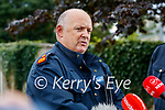 Garda Superintendent Paul Kennedy at a press confrence at Lixnaw Garda station on Wednesday about suspected murder-suicide at Ballyreehan, Lixnaw.