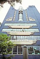Philadephia: WCAU Building, 1620 Chestnut. Early Art Deco--1928. Harry Sternfeld & Gabriel Roth, architects. Photo '91.