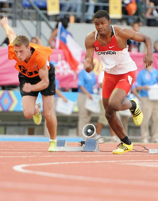 Brandon King, Guadalajara 2011 - Para Athletics // Para-athlétisme.<br /> Richard Ball races in the 400m T44 heats // Richard Ball dans les manches du 400m T44. 11/14/2011.