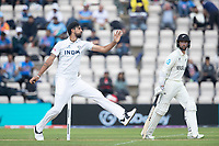 Ishant Sharma of India bowls as Devon Conway backs up during India vs New Zealand, ICC World Test Championship Final Cricket at The Hampshire Bowl on 20th June 2021