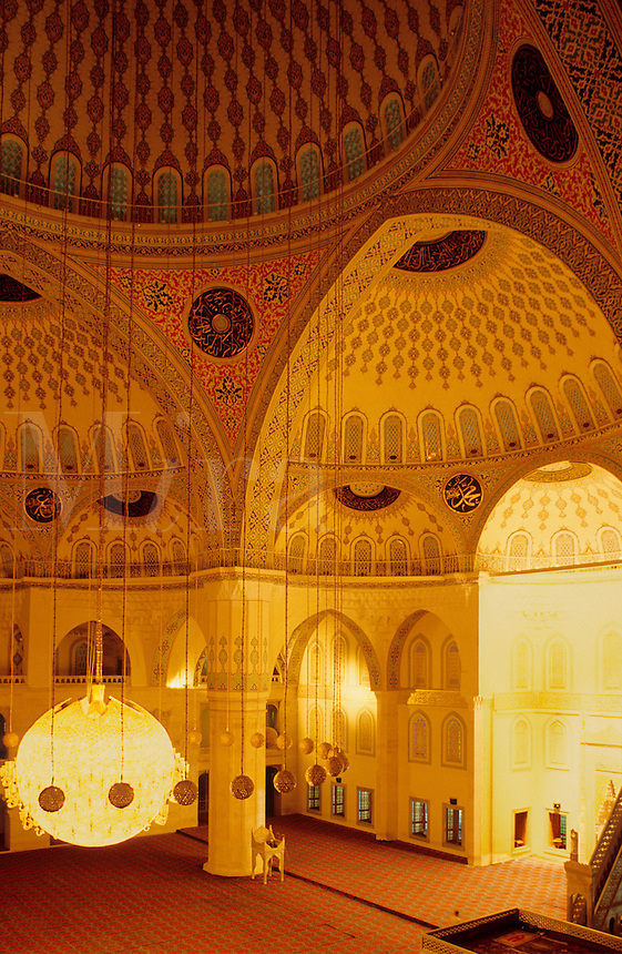 Kocatepe Mosque, Ankara, Turkey. Interior