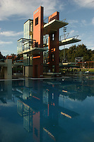15 November 2006: The Maas Diving Tower at the Avery Aquatic Center in Stanford, CA.