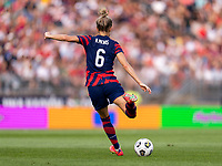 EAST HARTFORD, CT - JULY 5: Kristie Mewis #6 of the USWNT passes the ball during a game between Mexico and USWNT at Rentschler Field on July 5, 2021 in East Hartford, Connecticut.