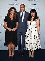 """NEW YORK CITY - JULY 26: Monica Lewinsky and Executive Producers Brad Simpson and Alexis Martin Woodall attend a special screening and dinner for the FX limited series """"Impeachment: American Crime Story"""" at The Pool on July 26, 2021 in New York City. (Photo by Frank Micelotta/FX/PictureGroup)"""