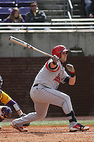 Stony Brook Seawolves infielder Maxx Tissenbaum #8 at bat during a game against the East Carolina University Pirates at Clark-LeClair Stadium on March 4, 2012 in Greenville, NC.  East Carolina defeated Stony Brook 4-3. (Robert Gurganus/Four Seam Images)