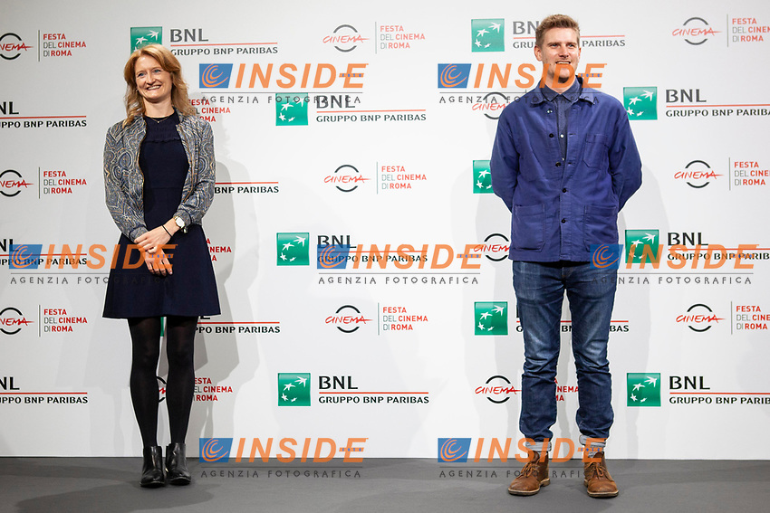 Producer Emily Morgan and director Harry Macqueen Director pose for photographers for the photo call of the film Supernova during the 15th edition of Rome film Fest.<br /> Rome (Italy), October 16th 2020<br /> Photo Pool Insidefoto