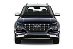Car photography straight front view of a 2020 Hyundai Venue Denim 5 Door SUV Front View