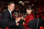 ISPS Handa Wales Open 2012.Gethin Jones and Midori Miyazaki from ISPS at the Gala Dinner...29.05.12.©Steve Pope