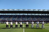 SAN JOSE, CA - FEBRUARY 29: Drumline during a game between Toronto FC and San Jose Earthquakes at Earthquakes Stadium on February 29, 2020 in San Jose, California.