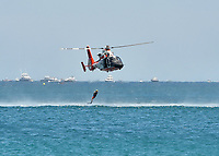 FORT LAUDERDALE, FL - MAY 06: U.S. Coast Guard Search and Rescue Demo performs in the Ford Lauderdale Air Show on May 6, 2017 in Fort Lauderdale, Florida<br /> <br /> <br /> People:  U.S. Coast Guard Search and Rescue Demo