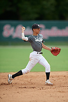 Kareh Valentin (40) during the WWBA World Championship at the Roger Dean Complex on October 12, 2019 in Jupiter, Florida.  Kareh Valentin attends Chapel Hill High School in Douglasville, GA and is Uncommitted.  (Mike Janes/Four Seam Images)