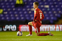 20th November 2020; St Andrews Stadium, Coventry, West Midlands, England; English Football League Championship Football, Coventry City v Birmingham City; Riley McGree of Birmingham City takes a knee before kick off