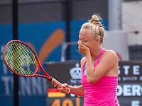Amstelveen, Netherlands, 7 Juli, 2021, National Tennis Center, NTC, Amstelveen Womans Open,  Semifinal:  Winner Yana Morderger (GER) screems it out at matchpoint<br /> Photo: Henk Koster/tennisimages.com