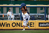 New York Yankees legend Billy Martin competes in a race between innings of the game between the Rochester Red Wings and the Scranton/Wilkes-Barre RailRiders at PNC Field on July 25, 2021 in Moosic, Pennsylvania. (Brian Westerholt/Four Seam Images)