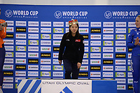 SPEEDSKATING: SALT LAKE CITY: Utah Olympic Oval, 10-03-2019, ISU World Cup Finals, Podium World Cup Mass Start Ladies, Bo-Reum Kim (KOR), ©Martin de Jong