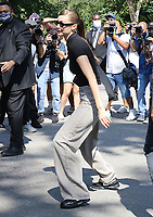 NEW YORK, NY- SEPTEMBER 10: Gigi Hadid seen at the NYFW S/S 2022 Michael Kors fashion show at Tavern On The Green in New York City on September 10, 2021. Credit: RW/MediaPunch<br /> CAP/MPI/RW<br /> ©RW/MPI/Capital Pictures