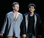 """Brent Carver and Orlando Bloom during the """"Romeo And Juliet"""" On Broadway First Performance Curtain Call at the Richard Rodgers Theatre in New York City on 8/24/2013"""