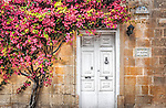 Doorway in the old fortress town of Mdina in Malta