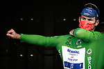 Mark Cavendish (GBR) Deceuninck-Quick Step wins Stage 6 and retains the points Green Jersey of the 2021 Tour de France, running 160.6km from Tours to Chateauroux, France. 1st July 2021.  <br /> Picture: A.S.O./Pauline Ballet | Cyclefile<br /> <br /> All photos usage must carry mandatory copyright credit (© Cyclefile | A.S.O./Pauline Ballet)