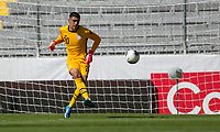 GUADALAJARA, MEXICO - MARCH 18: David Ochoa #20 of the United States passes off the ball during a game between Costa Rica and USMNT U-23 at Estadio Jalisco on March 18, 2021 in Guadalajara, Mexico.