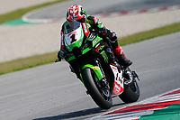 31st  March 2021; Barcelona, Spain; World Superbike testing at Circuit Barcelona-Catalunya;   Jonathan Rea (GBR) riding Kawasaki ZX-10RR for Kawasaki Racing Team WorldSBK