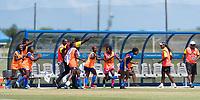 Bradenton, FL - Sunday, June 12, 2018: Haiti, goal celebration prior to a U-17 Women's Championship 3rd place match between Canada and Haiti at IMG Academy. Canada defeated Haiti 2-1.