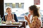 Two women in a Cafe in Belfast