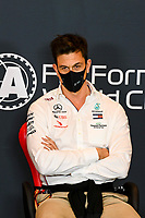 30th October 2020, Imola, Italy; FIA Formula 1 Grand Prix Emilia Romagna, inspection day;  Toto Wolff AUT, Mercedes AMG Petronas Motorsport , during the driver press conference