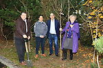 Éanna NÍ Lamhna of the Tree Council of Ireland, with Brendan Fitzsimons (CEO Tree Council of Ireland), Jackie Wherity (Sales Manager Consumer Products) and Colm Conyngham (Marketing and Public Relations Manager), planting a tree at the Bridgestone Balbriggan Service Centre, Unit 13 KVS Business Park, Balbriggan, Co. Dublin, Ireland on Friday 22nd November 2019.<br /> Picture:  Thos Caffrey / Newsfile<br /> <br /> All photo usage must carry mandatory copyright credit (© Newsfile   Thos Caffrey)