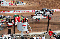 Mar. 20, 2011; Chandler, AZ, USA;  LOORRS pro lite drivers Brian Deegan (30) races alongside Chris Brandt at the green flag during round two at Firebird International Raceway. Mandatory Credit: Mark J. Rebilas-