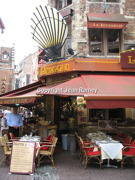 A charming cafe in Brussels, Belgium